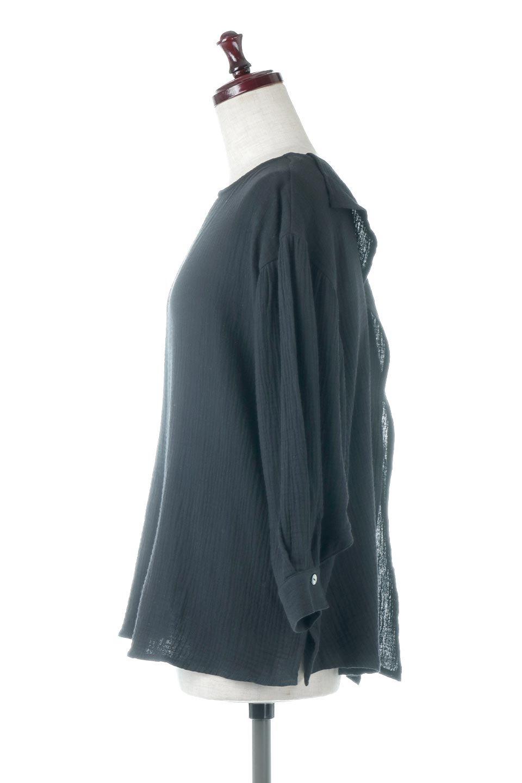 FrilledBackDoubleGauzeBlouseバックフリル・ダブルガーゼブラウス大人カジュアルに最適な海外ファッションのothers(その他インポートアイテム)のトップスやシャツ・ブラウス。フェミニンに決まるバックフリルがポイントのブラウス。綿100%のダブルガーゼの素材を使用してるのでとても柔らかく着心地も◎。/main-7