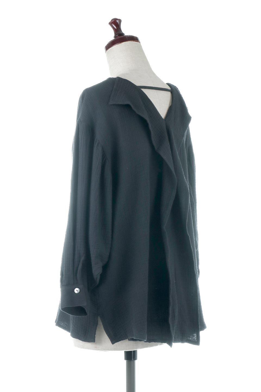 FrilledBackDoubleGauzeBlouseバックフリル・ダブルガーゼブラウス大人カジュアルに最適な海外ファッションのothers(その他インポートアイテム)のトップスやシャツ・ブラウス。フェミニンに決まるバックフリルがポイントのブラウス。綿100%のダブルガーゼの素材を使用してるのでとても柔らかく着心地も◎。/main-8