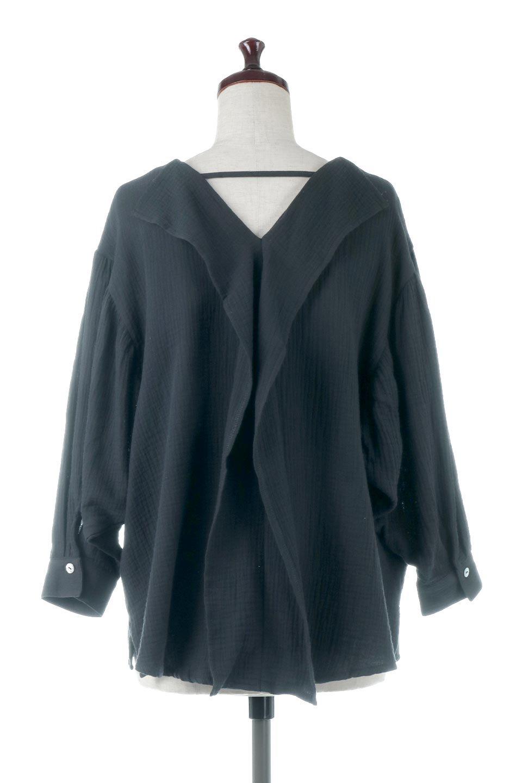 FrilledBackDoubleGauzeBlouseバックフリル・ダブルガーゼブラウス大人カジュアルに最適な海外ファッションのothers(その他インポートアイテム)のトップスやシャツ・ブラウス。フェミニンに決まるバックフリルがポイントのブラウス。綿100%のダブルガーゼの素材を使用してるのでとても柔らかく着心地も◎。/main-9