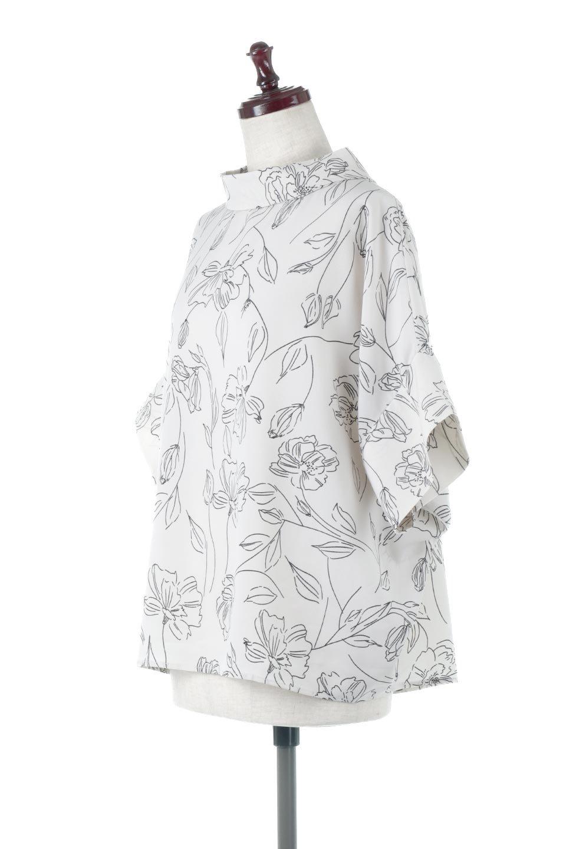 RollNeckBackButtonBlouseロールネック・ドルマンブラウス大人カジュアルに最適な海外ファッションのothers(その他インポートアイテム)のトップスやシャツ・ブラウス。ドルマンスリーブのドレープが綺麗で軽やかな着こなしができる半袖ブラウス。首元から背中にかけてのデザインがとても可愛いアイテムです。/main-11