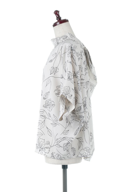 RollNeckBackButtonBlouseロールネック・ドルマンブラウス大人カジュアルに最適な海外ファッションのothers(その他インポートアイテム)のトップスやシャツ・ブラウス。ドルマンスリーブのドレープが綺麗で軽やかな着こなしができる半袖ブラウス。首元から背中にかけてのデザインがとても可愛いアイテムです。/main-12
