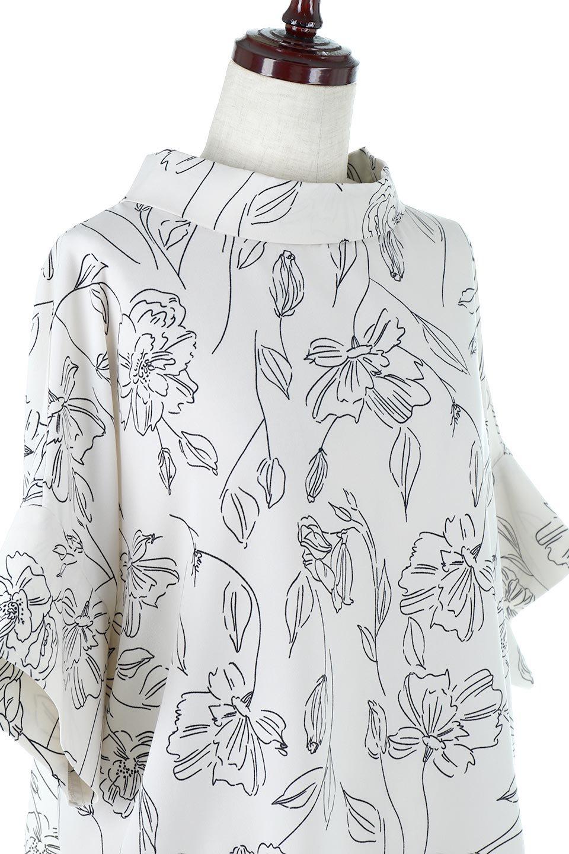 RollNeckBackButtonBlouseロールネック・ドルマンブラウス大人カジュアルに最適な海外ファッションのothers(その他インポートアイテム)のトップスやシャツ・ブラウス。ドルマンスリーブのドレープが綺麗で軽やかな着こなしができる半袖ブラウス。首元から背中にかけてのデザインがとても可愛いアイテムです。/main-17