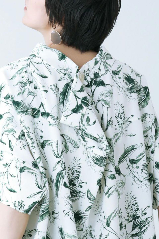 RollNeckBackButtonBlouseロールネック・ドルマンブラウス大人カジュアルに最適な海外ファッションのothers(その他インポートアイテム)のトップスやシャツ・ブラウス。ドルマンスリーブのドレープが綺麗で軽やかな着こなしができる半袖ブラウス。首元から背中にかけてのデザインがとても可愛いアイテムです。/main-34