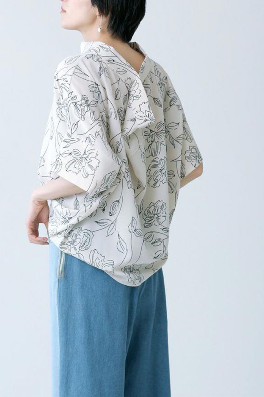 RollNeckBackButtonBlouseロールネック・ドルマンブラウス大人カジュアルに最適な海外ファッションのothers(その他インポートアイテム)のトップスやシャツ・ブラウス。ドルマンスリーブのドレープが綺麗で軽やかな着こなしができる半袖ブラウス。首元から背中にかけてのデザインがとても可愛いアイテムです。/main-36