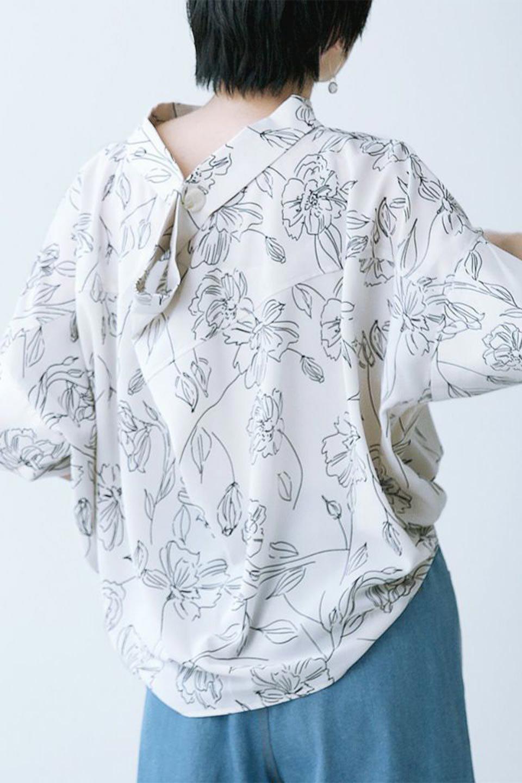 RollNeckBackButtonBlouseロールネック・ドルマンブラウス大人カジュアルに最適な海外ファッションのothers(その他インポートアイテム)のトップスやシャツ・ブラウス。ドルマンスリーブのドレープが綺麗で軽やかな着こなしができる半袖ブラウス。首元から背中にかけてのデザインがとても可愛いアイテムです。/main-39