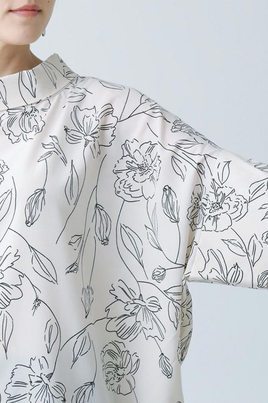 RollNeckBackButtonBlouseロールネック・ドルマンブラウス大人カジュアルに最適な海外ファッションのothers(その他インポートアイテム)のトップスやシャツ・ブラウス。ドルマンスリーブのドレープが綺麗で軽やかな着こなしができる半袖ブラウス。首元から背中にかけてのデザインがとても可愛いアイテムです。/main-40