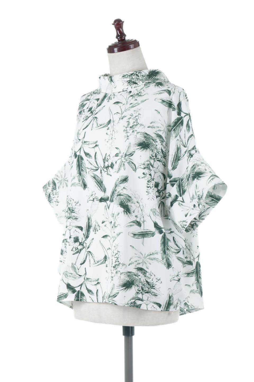 RollNeckBackButtonBlouseロールネック・ドルマンブラウス大人カジュアルに最適な海外ファッションのothers(その他インポートアイテム)のトップスやシャツ・ブラウス。ドルマンスリーブのドレープが綺麗で軽やかな着こなしができる半袖ブラウス。首元から背中にかけてのデザインがとても可愛いアイテムです。/main-6