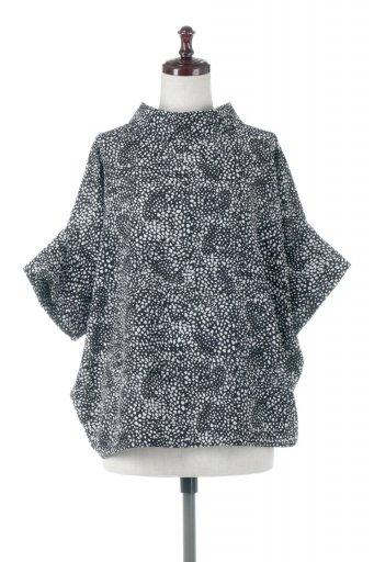 Roll Neck Back Button Blouse ロールネック・ドルマンブラウス / 大人カジュアルに最適な海外ファッションが得意な福島市のセレクトショップbloom