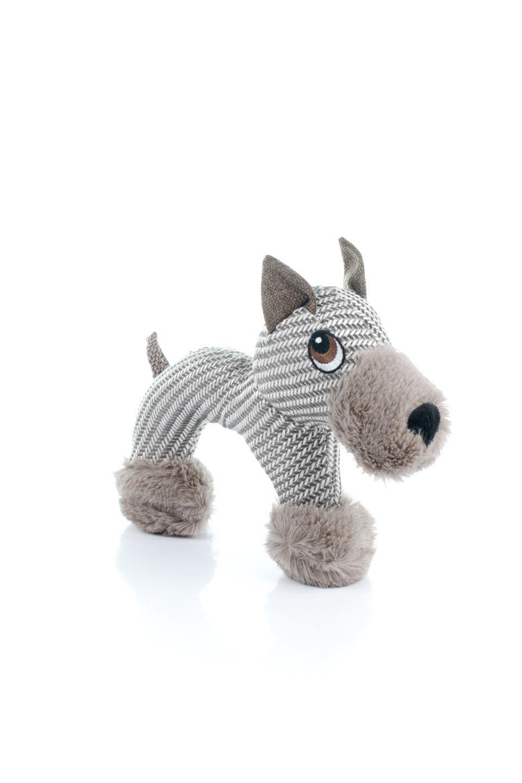 PlushDonkeyDogToyヘリンボーンのロバ・犬用オモチャ大人カジュアルに最適な海外ファッションのothers(その他インポートアイテム)のドッググッズやその他。ヘリンボーン柄が可愛い犬用オモチャ。デフォルメしたデザインとシックなカラーが何となくオシャレなロバさんです。/main-4