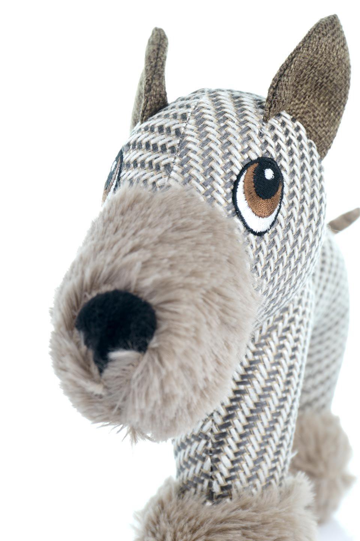 PlushDonkeyDogToyヘリンボーンのロバ・犬用オモチャ大人カジュアルに最適な海外ファッションのothers(その他インポートアイテム)のドッググッズやその他。ヘリンボーン柄が可愛い犬用オモチャ。デフォルメしたデザインとシックなカラーが何となくオシャレなロバさんです。/main-8