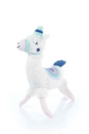 海外ファッションや大人カジュアルに最適なインポートセレクトアイテムのPlush Alpaca Dog Toy 白いアルパカ・犬用オモチャ
