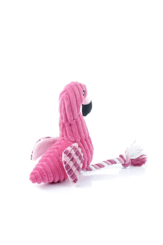 PlushFlamingoDogToyロープ足のフラミンゴ・犬用オモチャ大人カジュアルに最適な海外ファッションのothers(その他インポートアイテム)のドッググッズやその他。発色の良いピンク色でワンちゃんを引きつけるフラミンゴの犬用オモチャ。体はぬいぐるみ、足はロープ。/main-3