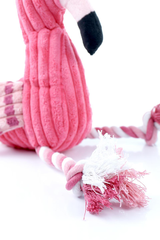 PlushFlamingoDogToyロープ足のフラミンゴ・犬用オモチャ大人カジュアルに最適な海外ファッションのothers(その他インポートアイテム)のドッググッズやその他。発色の良いピンク色でワンちゃんを引きつけるフラミンゴの犬用オモチャ。体はぬいぐるみ、足はロープ。/main-7