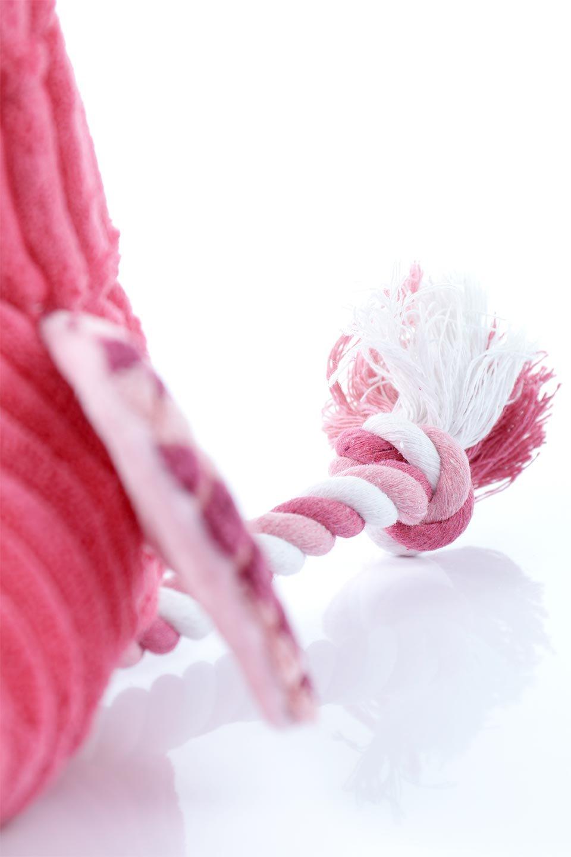PlushFlamingoDogToyロープ足のフラミンゴ・犬用オモチャ大人カジュアルに最適な海外ファッションのothers(その他インポートアイテム)のドッググッズやその他。発色の良いピンク色でワンちゃんを引きつけるフラミンゴの犬用オモチャ。体はぬいぐるみ、足はロープ。/main-9
