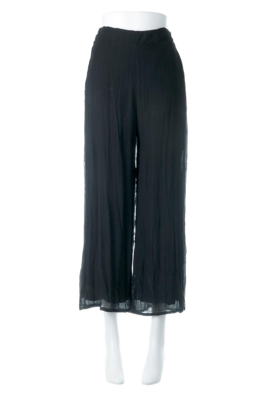 WrinklePoplinWideLegPantsワッシャーポプリン・シワ加工パンツ大人カジュアルに最適な海外ファッションのothers(その他インポートアイテム)のボトムやパンツ。ランダムなシワ加工が涼しげな印象のワイドパンツ。薄手の生地で春夏にピッタリのアイテム。/main-10