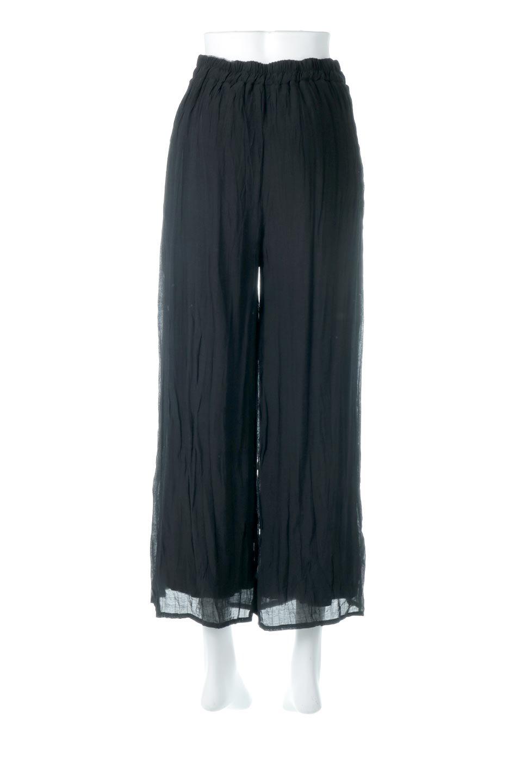WrinklePoplinWideLegPantsワッシャーポプリン・シワ加工パンツ大人カジュアルに最適な海外ファッションのothers(その他インポートアイテム)のボトムやパンツ。ランダムなシワ加工が涼しげな印象のワイドパンツ。薄手の生地で春夏にピッタリのアイテム。/main-14