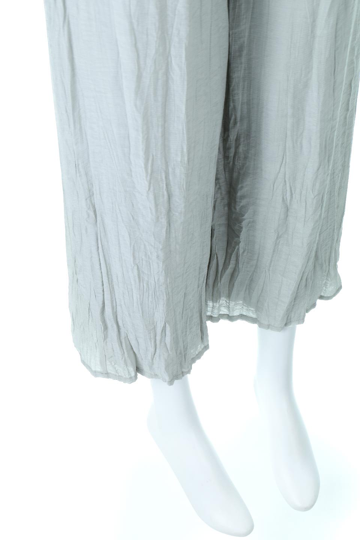 WrinklePoplinWideLegPantsワッシャーポプリン・シワ加工パンツ大人カジュアルに最適な海外ファッションのothers(その他インポートアイテム)のボトムやパンツ。ランダムなシワ加工が涼しげな印象のワイドパンツ。薄手の生地で春夏にピッタリのアイテム。/main-19