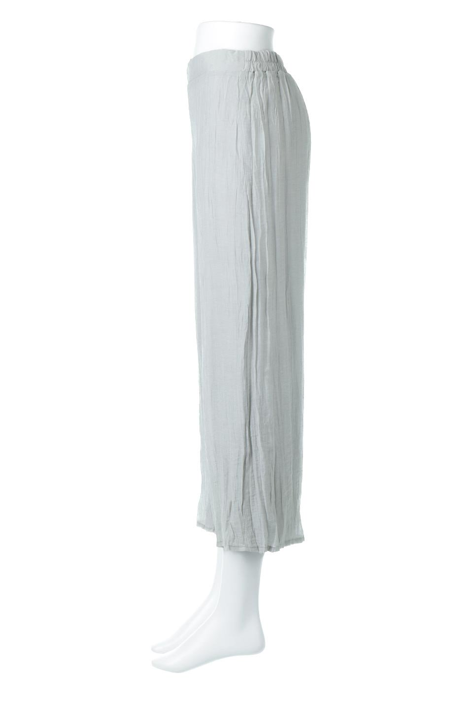 WrinklePoplinWideLegPantsワッシャーポプリン・シワ加工パンツ大人カジュアルに最適な海外ファッションのothers(その他インポートアイテム)のボトムやパンツ。ランダムなシワ加工が涼しげな印象のワイドパンツ。薄手の生地で春夏にピッタリのアイテム。/main-2