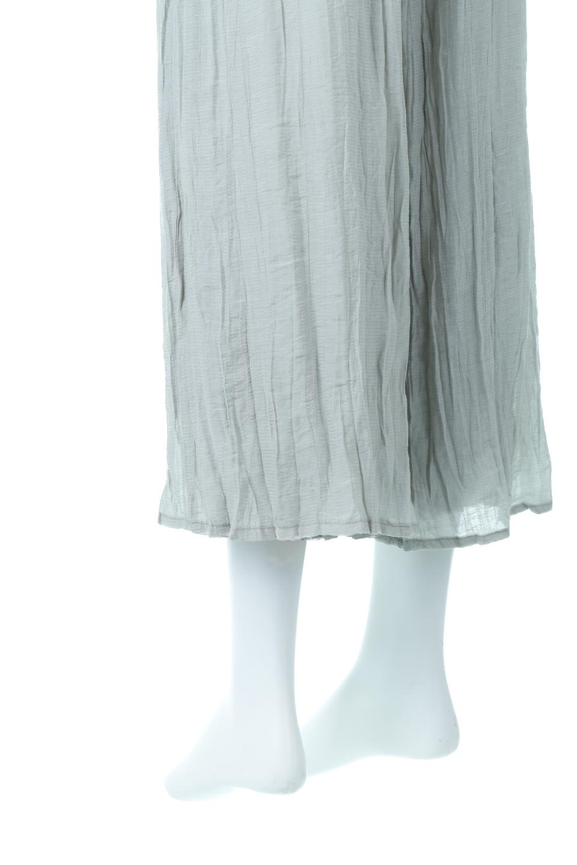 WrinklePoplinWideLegPantsワッシャーポプリン・シワ加工パンツ大人カジュアルに最適な海外ファッションのothers(その他インポートアイテム)のボトムやパンツ。ランダムなシワ加工が涼しげな印象のワイドパンツ。薄手の生地で春夏にピッタリのアイテム。/main-20