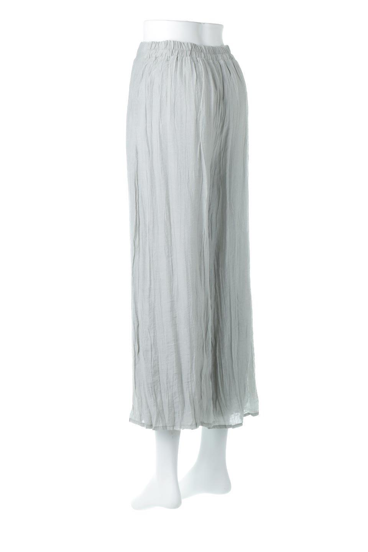 WrinklePoplinWideLegPantsワッシャーポプリン・シワ加工パンツ大人カジュアルに最適な海外ファッションのothers(その他インポートアイテム)のボトムやパンツ。ランダムなシワ加工が涼しげな印象のワイドパンツ。薄手の生地で春夏にピッタリのアイテム。/main-3