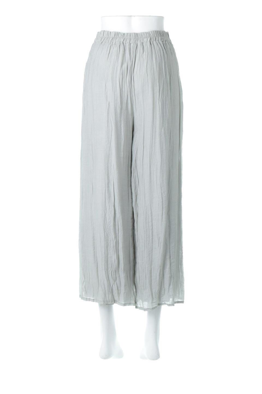 WrinklePoplinWideLegPantsワッシャーポプリン・シワ加工パンツ大人カジュアルに最適な海外ファッションのothers(その他インポートアイテム)のボトムやパンツ。ランダムなシワ加工が涼しげな印象のワイドパンツ。薄手の生地で春夏にピッタリのアイテム。/main-4