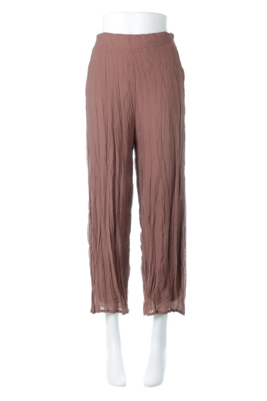 WrinklePoplinWideLegPantsワッシャーポプリン・シワ加工パンツ大人カジュアルに最適な海外ファッションのothers(その他インポートアイテム)のボトムやパンツ。ランダムなシワ加工が涼しげな印象のワイドパンツ。薄手の生地で春夏にピッタリのアイテム。/main-5