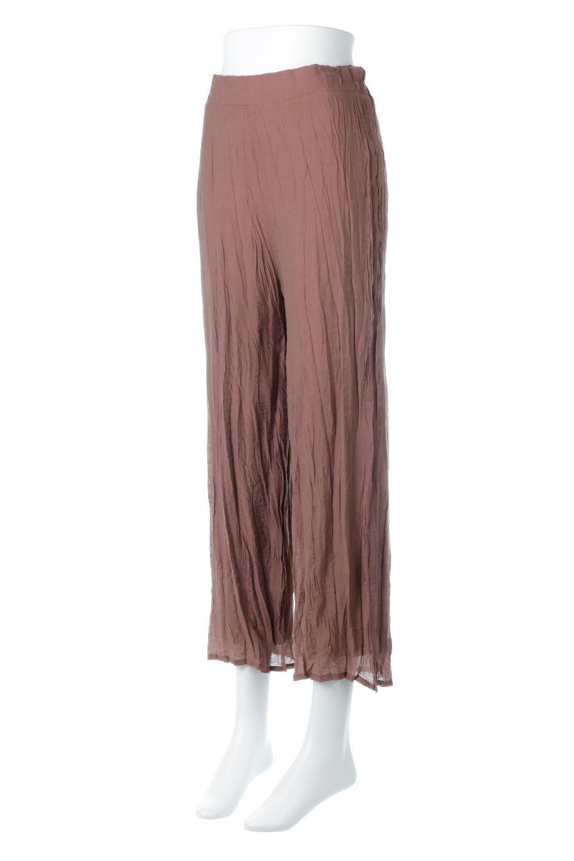 WrinklePoplinWideLegPantsワッシャーポプリン・シワ加工パンツ大人カジュアルに最適な海外ファッションのothers(その他インポートアイテム)のボトムやパンツ。ランダムなシワ加工が涼しげな印象のワイドパンツ。薄手の生地で春夏にピッタリのアイテム。/main-6