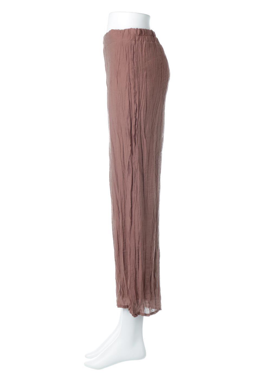 WrinklePoplinWideLegPantsワッシャーポプリン・シワ加工パンツ大人カジュアルに最適な海外ファッションのothers(その他インポートアイテム)のボトムやパンツ。ランダムなシワ加工が涼しげな印象のワイドパンツ。薄手の生地で春夏にピッタリのアイテム。/main-7