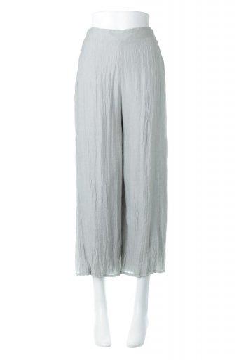海外ファッションや大人カジュアルに最適なインポートセレクトアイテムのWrinkle Poplin Wide Leg Pants ワッシャーポプリン・シワ加工パンツ