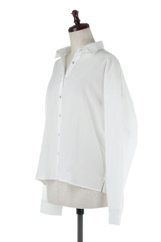 L.A.直輸入のButtonUpCottonShirtsルーズシルエット・ボタンシャツ大人カジュアルに最適な海外ファッションのothers(その他インポートアイテム)のトップスやシャツ・ブラウス。ナチュラルなシアーコットンのショート丈ルーズシャツ。ボタンを空けてラフに着ても、ボタンを留めてキッチリ着ても綺麗なラインが出るシャツです。/main-1
