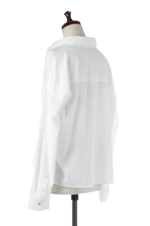 L.A.直輸入のButtonUpCottonShirtsルーズシルエット・ボタンシャツ大人カジュアルに最適な海外ファッションのothers(その他インポートアイテム)のトップスやシャツ・ブラウス。ナチュラルなシアーコットンのショート丈ルーズシャツ。ボタンを空けてラフに着ても、ボタンを留めてキッチリ着ても綺麗なラインが出るシャツです。/main-3