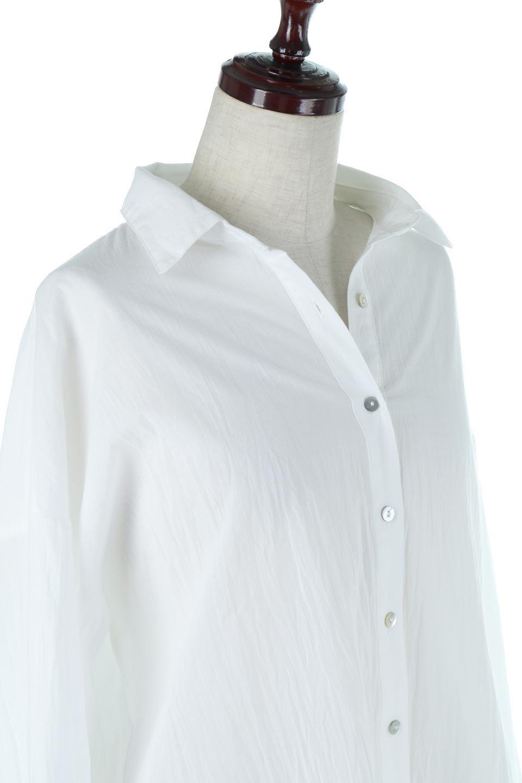 L.A.直輸入のButtonUpCottonShirtsルーズシルエット・ボタンシャツ大人カジュアルに最適な海外ファッションのothers(その他インポートアイテム)のトップスやシャツ・ブラウス。ナチュラルなシアーコットンのショート丈ルーズシャツ。ボタンを空けてラフに着ても、ボタンを留めてキッチリ着ても綺麗なラインが出るシャツです。/main-5