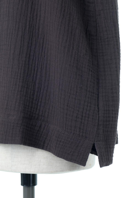GatheredNeckDoubleGauzeBlouseギャザーネック・ダブルガーゼブラウス/fromL.A.大人カジュアルに最適な海外ファッションのothers(その他インポートアイテム)のトップスやシャツ・ブラウス。ソフトで肌触りのよいダブルガーゼを使用した半袖ブラウス。前後共に右側の首元に入ったギャザーがアクセントになっています。/main-10