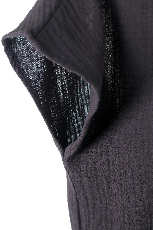 GatheredNeckDoubleGauzeBlouseギャザーネック・ダブルガーゼブラウス/fromL.A.大人カジュアルに最適な海外ファッションのothers(その他インポートアイテム)のトップスやシャツ・ブラウス。ソフトで肌触りのよいダブルガーゼを使用した半袖ブラウス。前後共に右側の首元に入ったギャザーがアクセントになっています。/main-8