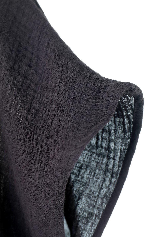 GatheredNeckDoubleGauzeBlouseギャザーネック・ダブルガーゼブラウス/fromL.A.大人カジュアルに最適な海外ファッションのothers(その他インポートアイテム)のトップスやシャツ・ブラウス。ソフトで肌触りのよいダブルガーゼを使用した半袖ブラウス。前後共に右側の首元に入ったギャザーがアクセントになっています。/main-9