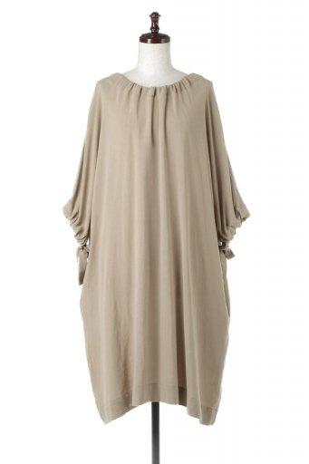 L.A.直輸入のLinen Blend Drawstrings Dress リネン混・リボンギャザーワンピ  / 大人カジュアルに最適な海外ファッションが得意な福島市のセレクトショップbloom