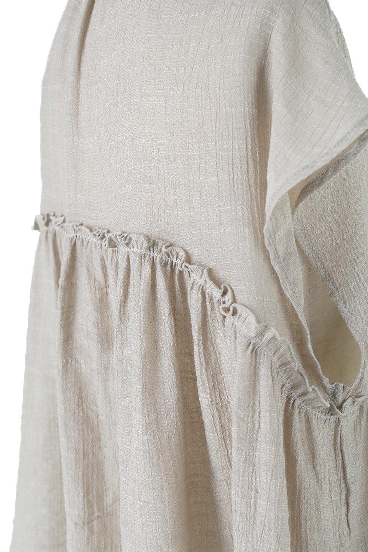 FrenchSleeveGatheredBlouseフレンチスリーブ・ギャザーブラウス大人カジュアルに最適な海外ファッションのothers(その他インポートアイテム)のトップスやシャツ・ブラウス。サラリとした肌触りが心地よいフレンチスリーブのブラウス。シワが気にならないスラブガーゼを使用したアイテムです。/main-20