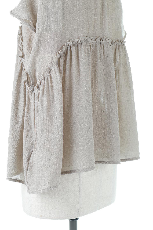 FrenchSleeveGatheredBlouseフレンチスリーブ・ギャザーブラウス大人カジュアルに最適な海外ファッションのothers(その他インポートアイテム)のトップスやシャツ・ブラウス。サラリとした肌触りが心地よいフレンチスリーブのブラウス。シワが気にならないスラブガーゼを使用したアイテムです。/main-22