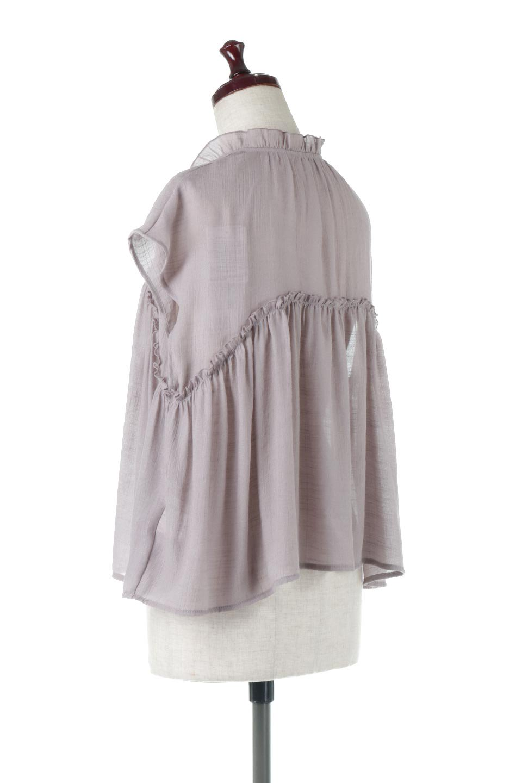 FrenchSleeveGatheredBlouseフレンチスリーブ・ギャザーブラウス大人カジュアルに最適な海外ファッションのothers(その他インポートアイテム)のトップスやシャツ・ブラウス。サラリとした肌触りが心地よいフレンチスリーブのブラウス。シワが気にならないスラブガーゼを使用したアイテムです。/main-3