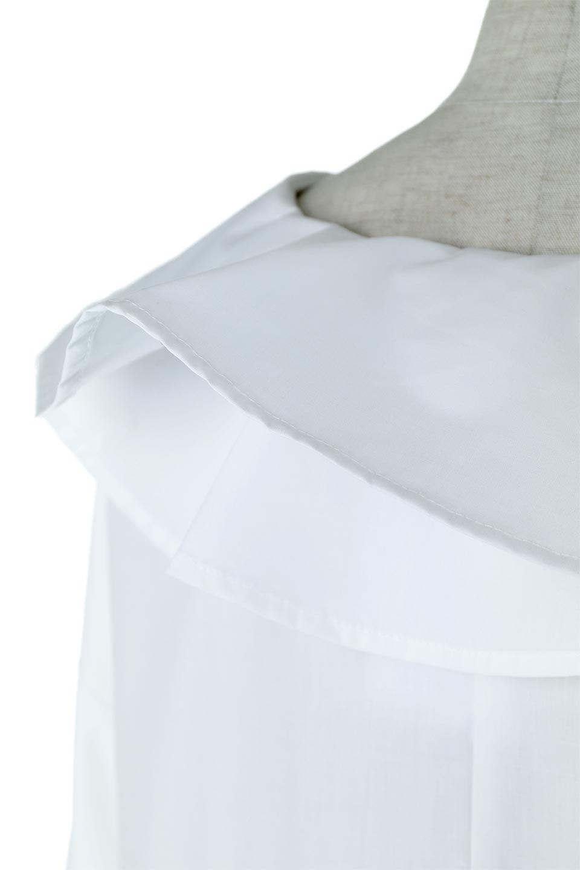 CandySleeveLargeCollarBlouseビッグカラー・キャンディースリーブブラウス大人カジュアルに最適な海外ファッションのothers(その他インポートアイテム)のトップスやシャツ・ブラウス。今季注目の大きな襟が特徴の7分袖ブラウスです。肩にかかるかかからないかの大きな襟が印象的で、ガーリーなイメージを作ります。/main-15