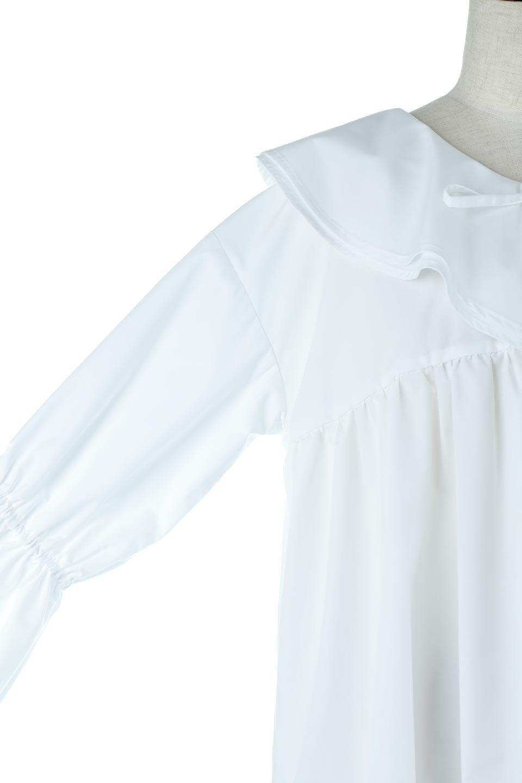 CandySleeveLargeCollarBlouseビッグカラー・キャンディースリーブブラウス大人カジュアルに最適な海外ファッションのothers(その他インポートアイテム)のトップスやシャツ・ブラウス。今季注目の大きな襟が特徴の7分袖ブラウスです。肩にかかるかかからないかの大きな襟が印象的で、ガーリーなイメージを作ります。/main-16