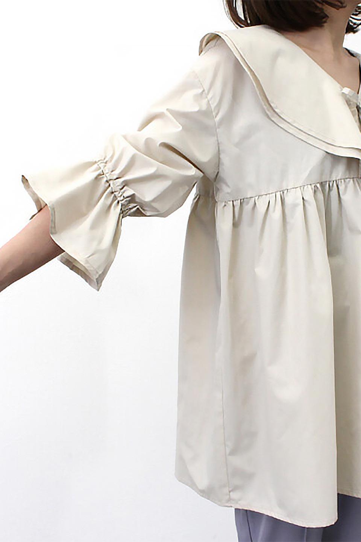 CandySleeveLargeCollarBlouseビッグカラー・キャンディースリーブブラウス大人カジュアルに最適な海外ファッションのothers(その他インポートアイテム)のトップスやシャツ・ブラウス。今季注目の大きな襟が特徴の7分袖ブラウスです。肩にかかるかかからないかの大きな襟が印象的で、ガーリーなイメージを作ります。/main-19