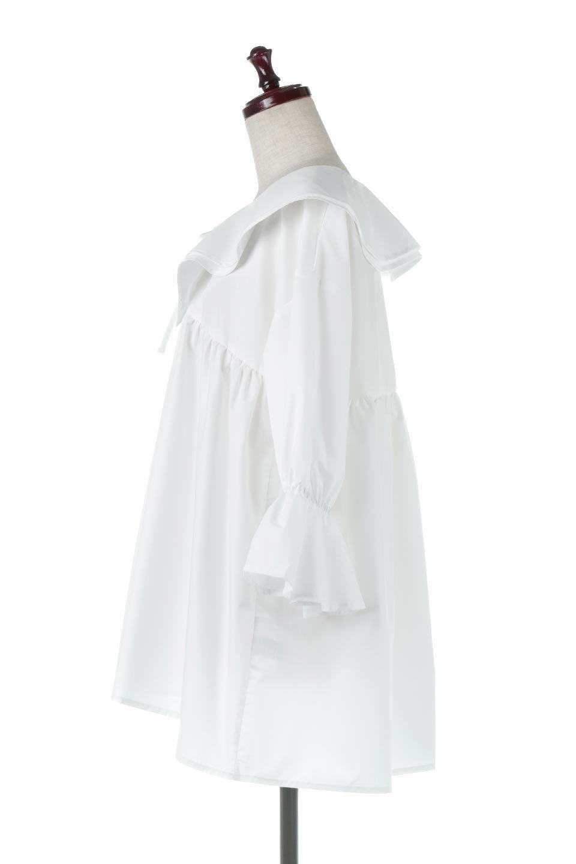 CandySleeveLargeCollarBlouseビッグカラー・キャンディースリーブブラウス大人カジュアルに最適な海外ファッションのothers(その他インポートアイテム)のトップスやシャツ・ブラウス。今季注目の大きな襟が特徴の7分袖ブラウスです。肩にかかるかかからないかの大きな襟が印象的で、ガーリーなイメージを作ります。/main-7