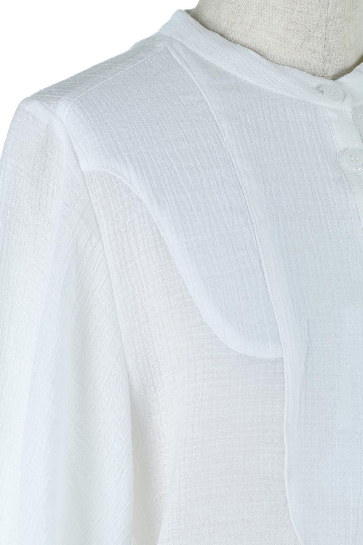 SideTiedBosomBlouseブザムデザイン・サイドリボンブラウス大人カジュアルに最適な海外ファッションのothers(その他インポートアイテム)のトップスやシャツ・ブラウス。サラテロ素材で肌触り抜群のブザムデザインのブラウス。サイドに大胆に入ったスリットには2か所のリボンで可愛さアップ。/main-11
