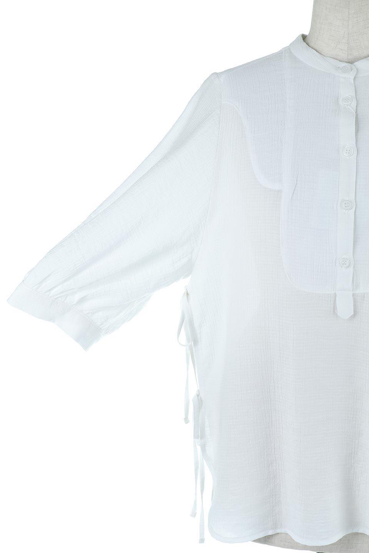 SideTiedBosomBlouseブザムデザイン・サイドリボンブラウス大人カジュアルに最適な海外ファッションのothers(その他インポートアイテム)のトップスやシャツ・ブラウス。サラテロ素材で肌触り抜群のブザムデザインのブラウス。サイドに大胆に入ったスリットには2か所のリボンで可愛さアップ。/main-14