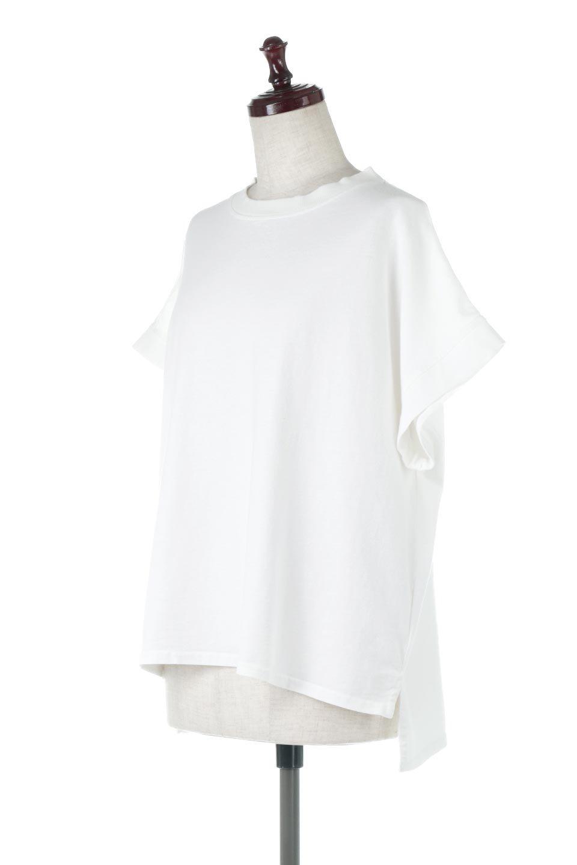 SquareStyleWashedTeeビンテージ風・フレンチスリーブTシャツ大人カジュアルに最適な海外ファッションのothers(その他インポートアイテム)のトップスやTシャツ。ビンテージ風のピグメント加工がポイントのビッグTee。フレンチスリーブで肩から腕のラインをキレイに見せてくれます。/main-1