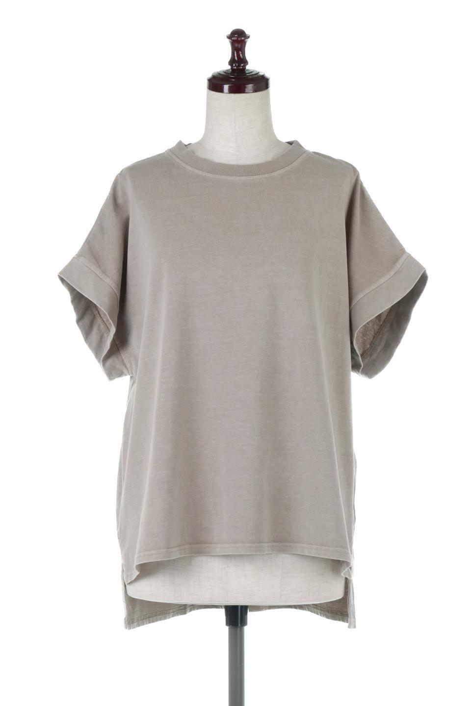 SquareStyleWashedTeeビンテージ風・フレンチスリーブTシャツ大人カジュアルに最適な海外ファッションのothers(その他インポートアイテム)のトップスやTシャツ。ビンテージ風のピグメント加工がポイントのビッグTee。フレンチスリーブで肩から腕のラインをキレイに見せてくれます。/main-10
