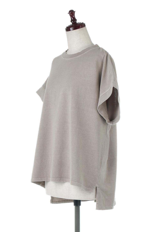 SquareStyleWashedTeeビンテージ風・フレンチスリーブTシャツ大人カジュアルに最適な海外ファッションのothers(その他インポートアイテム)のトップスやTシャツ。ビンテージ風のピグメント加工がポイントのビッグTee。フレンチスリーブで肩から腕のラインをキレイに見せてくれます。/main-11