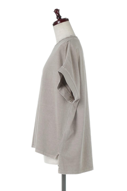 SquareStyleWashedTeeビンテージ風・フレンチスリーブTシャツ大人カジュアルに最適な海外ファッションのothers(その他インポートアイテム)のトップスやTシャツ。ビンテージ風のピグメント加工がポイントのビッグTee。フレンチスリーブで肩から腕のラインをキレイに見せてくれます。/main-12