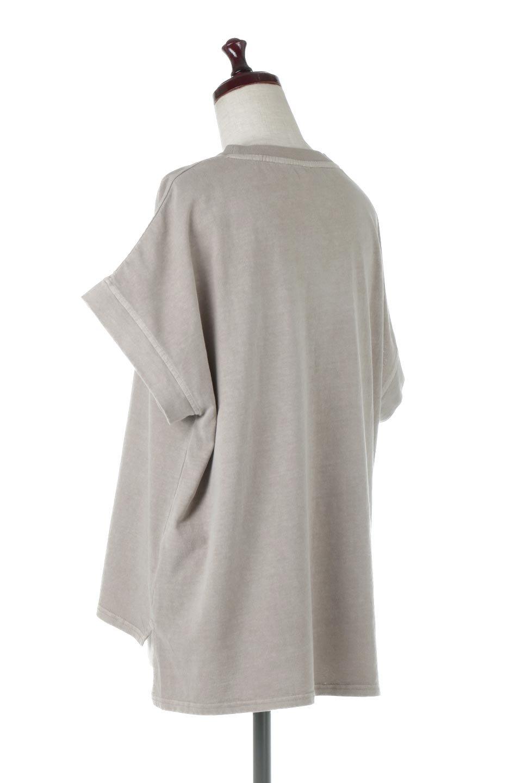 SquareStyleWashedTeeビンテージ風・フレンチスリーブTシャツ大人カジュアルに最適な海外ファッションのothers(その他インポートアイテム)のトップスやTシャツ。ビンテージ風のピグメント加工がポイントのビッグTee。フレンチスリーブで肩から腕のラインをキレイに見せてくれます。/main-13